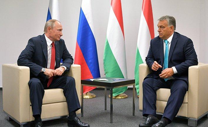 Президент РФ Владимир Путин и премьер-министр Венгрии Виктор Орбан во время встречи в Будапеште. 28 августа 2017