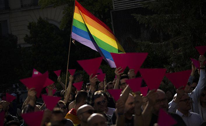 Акция в поддержку ЛГБТ-сообщества в Чечне