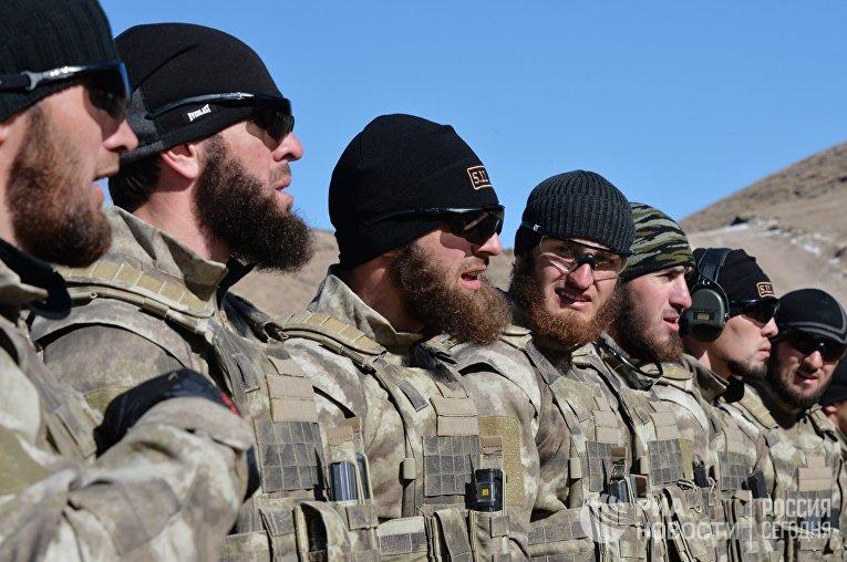 Военные учения в Чеченской Республике