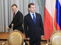 Д.Медведев Д.Туск