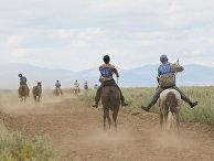 Чемпионат республики Тыва по конным скачкам
