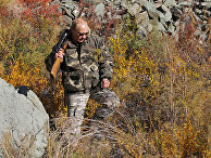 """В.Путин во время экспедиции в """"Убсунурскую котловину"""""""