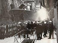 Шведский эсминец HMS Småland в туннеле базы Мускё