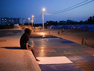 Палаточный лагерь для беженцев с востока Украины