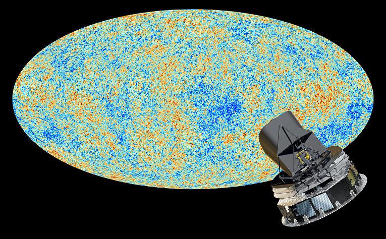 Снимок космической обсерватории Планк