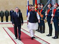 Встреча министров обороны РФ и Индии С. Шойгу и Р. Сингха в Москве