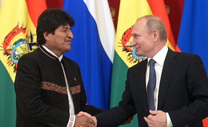 Президент РФ В. Путин встретился с президентом Боливии Э. Моралесом