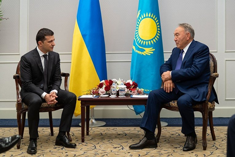 Владимир Зеленский встретился с Нурсултаном Назарбаевым