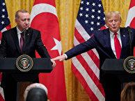 Президент США Дональд Трамп и президент Турции Тайип Эрдоган во время совместной пресс-конференции в Белом доме в Вашингтоне