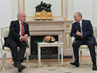 Президент РФ В. Путин встретился с президентом Швейцарии У. Маурером
