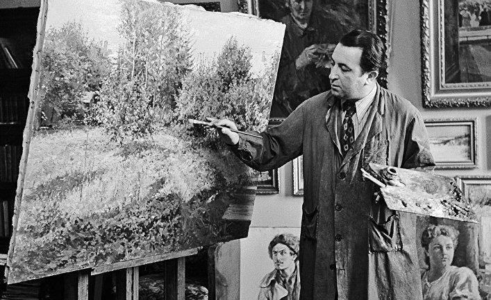 Советский художник Д. Налбандян