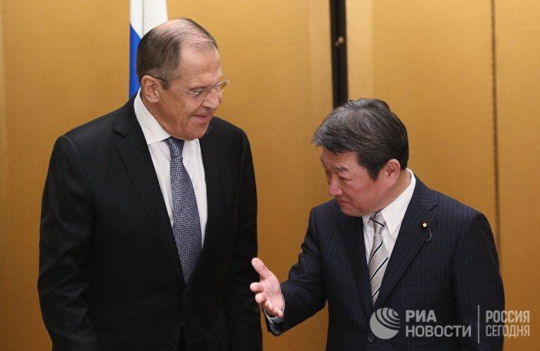 Визит главы МИД РФ С. Лаврова в Японию