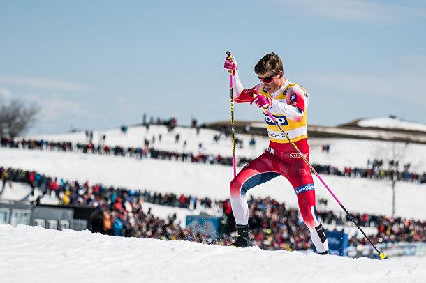 Норвежский лыжник Йоханнес Хёсфлот Клэбо