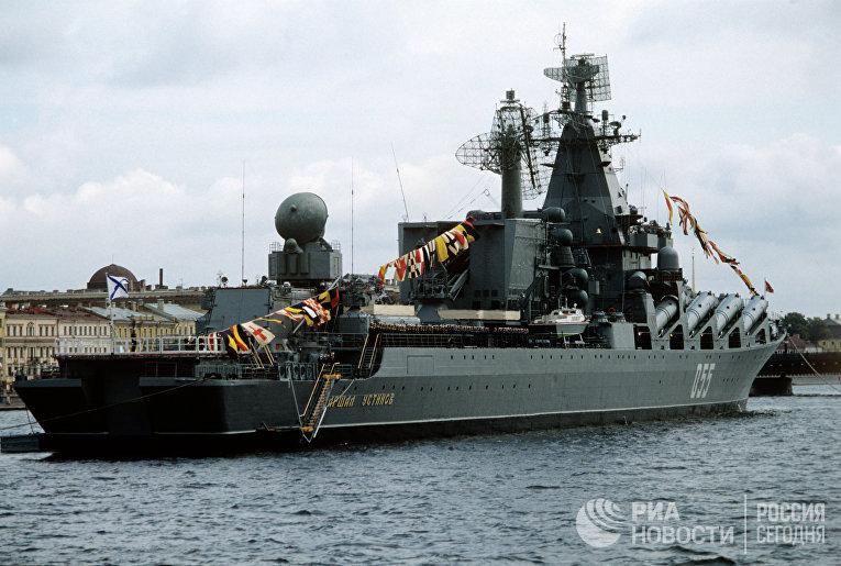 """Ракетный крейсер """"Маршал Устинов"""". Архив"""