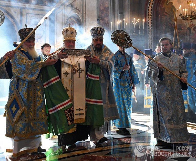 Прибытие мощей святителя Спиридона Тримифунтского в Храм Христа Спасителя