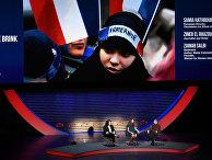 Журналист Зинеб Эль-Разуи выступает во время восьмого ежегодного женского саммита в Нью-Йорке, США