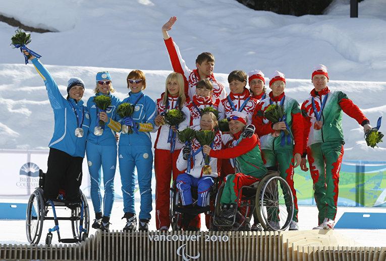 X Зимние Паралимпийские игры. Лыжные гонки. Женщины. 3х2,5 км