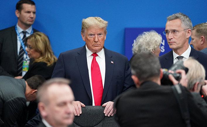Президент США Дональд Трамп на саммите НАТО в Уотфорде, Великобритания