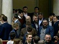 Украинские депутаты подрались  из-за женщины