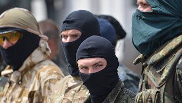 """Бойцы батальона """"Донбасс"""" в Киеве"""