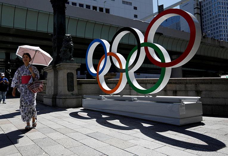 Олимпийская символика в Токио, Япония