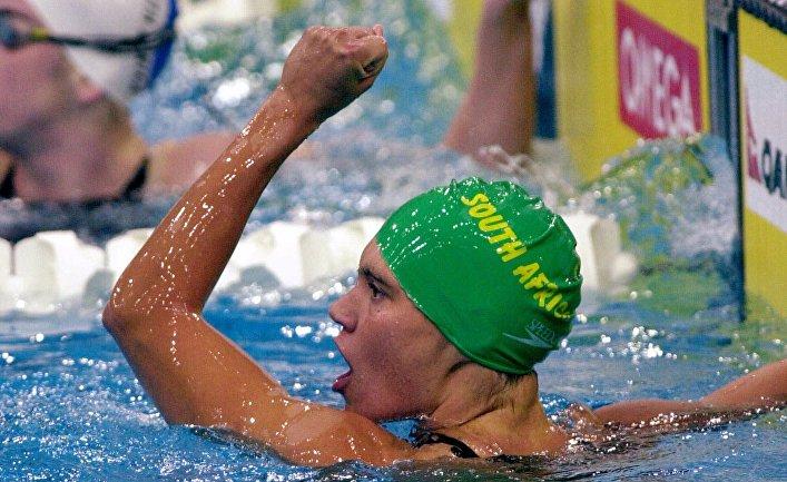 Южноафриканская пловчиха Пэнни Хейнс