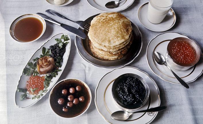 Блюда русской кухни. Русские блины.