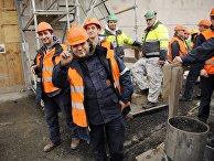 Рабочие на строительной площадке в Финляндии