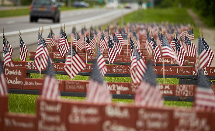 Мемориал американским солдатам, убитым в Ираке и Афганистане