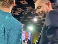 Украинский корреспондент спросил Путина об украинских танках на Кубани