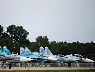 Самолеты Су-30СМ, Су-27УБ и Су-34