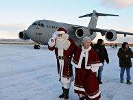 Мистер и миссис Санта Клаус в городе Сент-Пол, штат Аляска