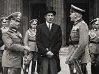Вернер фон Фрич, Юзеф Бек и Вернер фон Бломберг в Берлине, 1935 год
