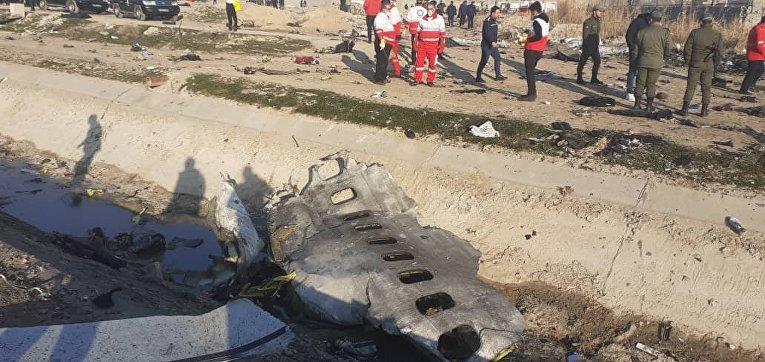 Крайшение украинского Boeing-737