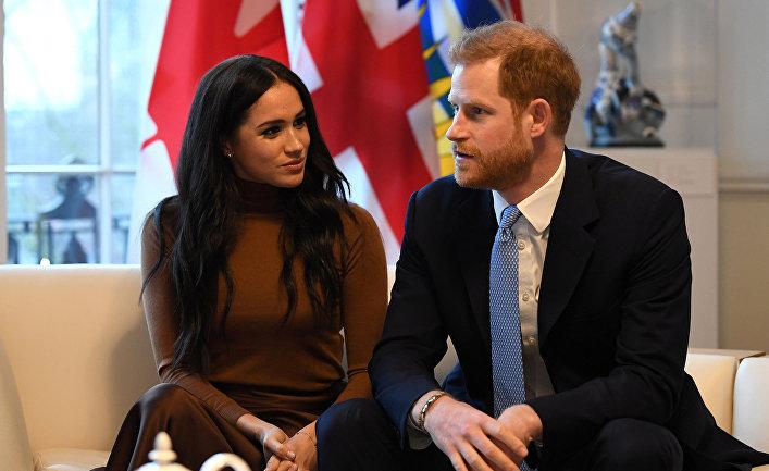Британский принц Гарри и его жена Меган в Лондоне, Великобритания