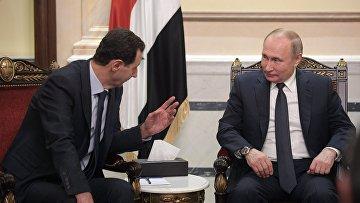 Визит президента РФ В. Путина в Сирию