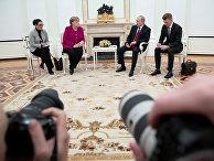 11 января 2020. Встреча Ангелы Меркель и Владимира Путина в Кремле