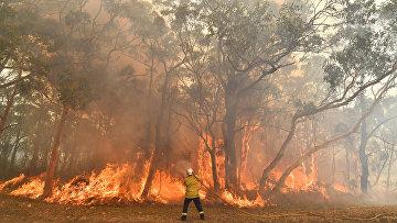 Тушение пожара в Австралии