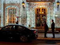 "Фасад ресторана ""Кафе ПушкинЪ"" на Тверском бульваре в Москве"