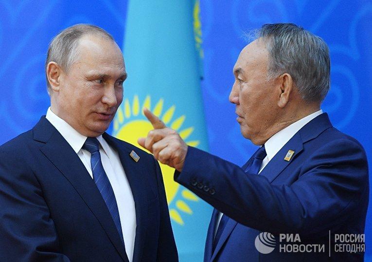 Рабочий визит президента РФ В. Путина в Казахстан. День второй