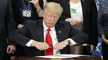 Президент США Дональд Трамп в Вашингтоне