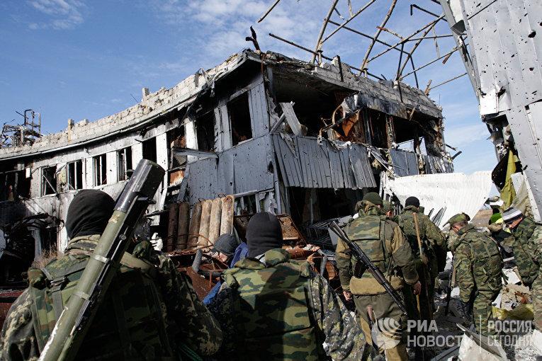 Ополченцы Донецкой народной республики (ДНР)
