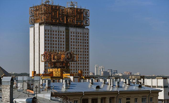 Вид на здание Российской академии наук в Москве