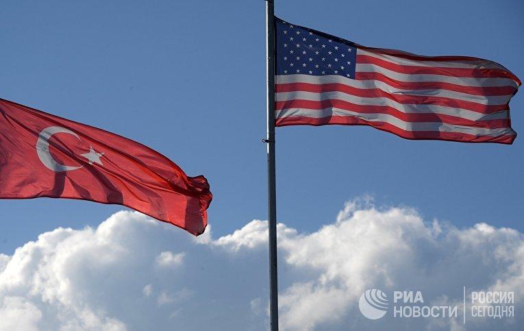Флаги США и Турции