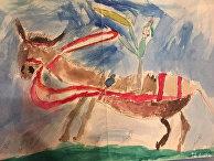 Картина «Красноармеец на лошади»
