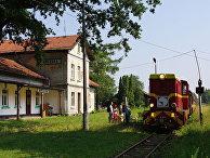 Железнодорожная станция в городе Каньчуга, Польша
