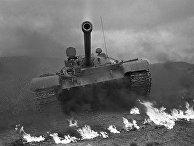 Средний танк Т-55, первый в мире серийный танк, оборудованный автоматической системой противоатомной защиты