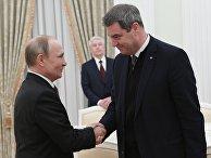 Президент РФ В. Путин встретился с премьер-министром Баварии М. Зедером