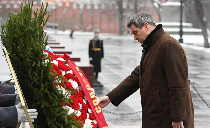 Премьер-министр Баварии М. Зедер возложил цветы к Могиле Неизвестного Солдата