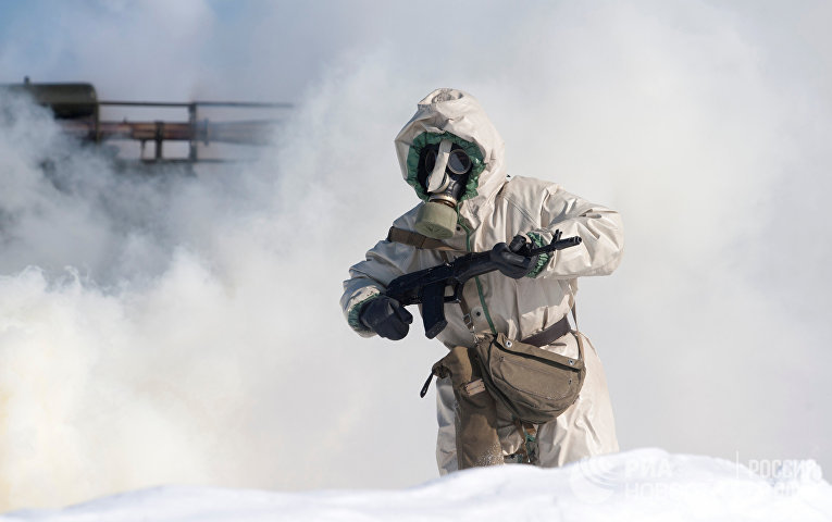 Учения войск Радиационной биологической химической защиты